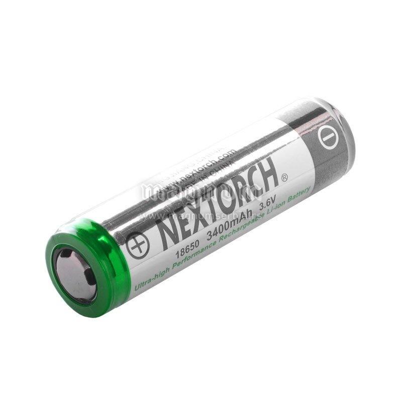 Baterija NT18650 Li-ion 3400 mAh Nextorch