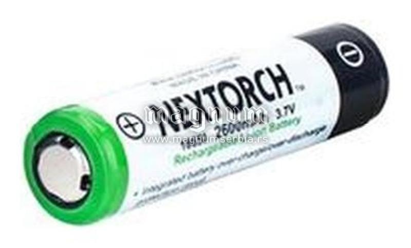 Baterija NT18650 Li-ion 2600 mAh NexTORCH