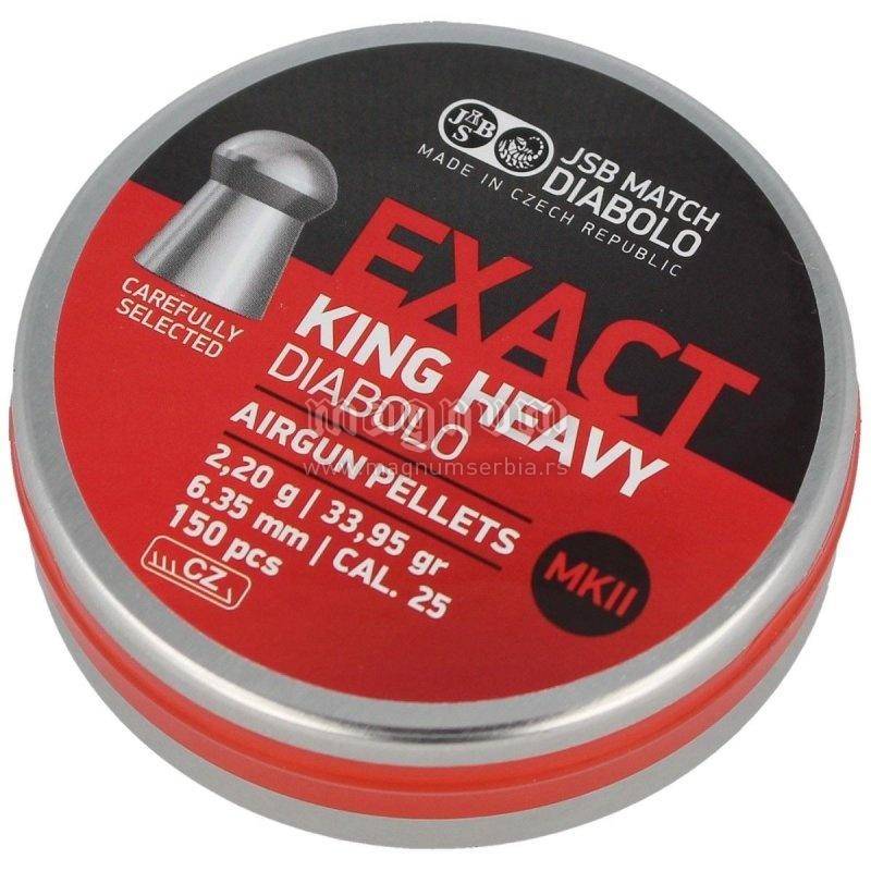 Dijabola JSB Exact King Heavy MKII 6.35 1/150 2.2g