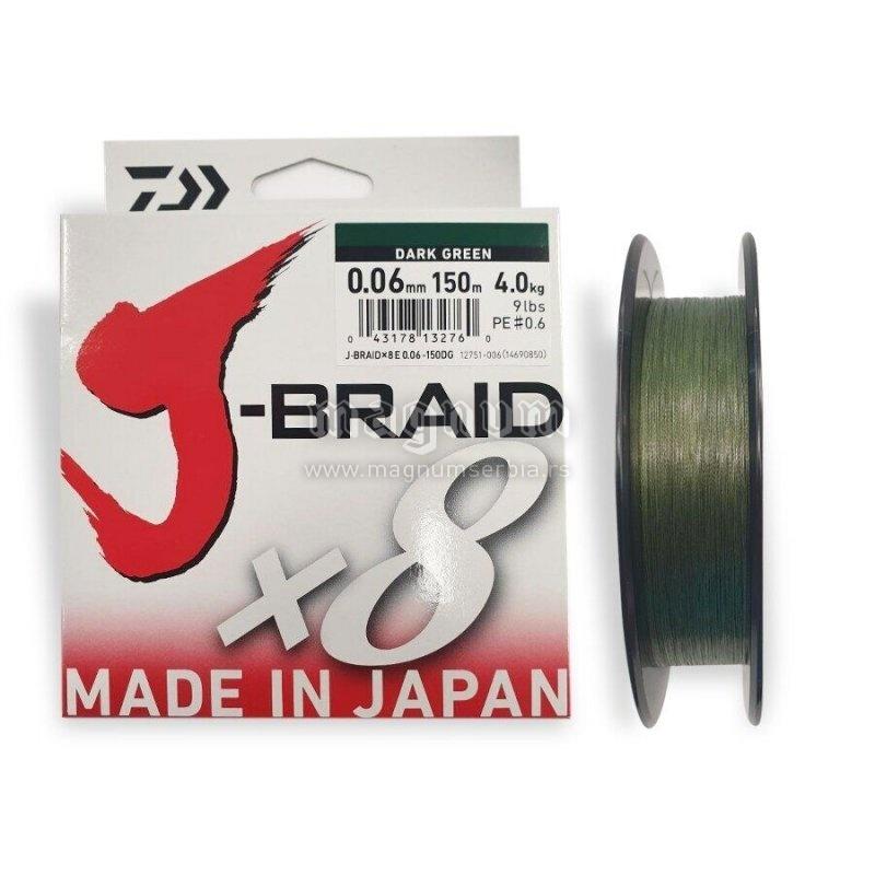 Kanap Daiwa J-Braid X8 150m 006 12751-006