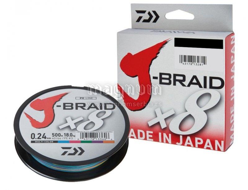 Kanap Daiwa J-Braid X8 150m 006 multicol. 12755-006