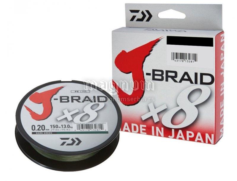 Kanap Daiwa J-Braid X8 150m 016 12751-016