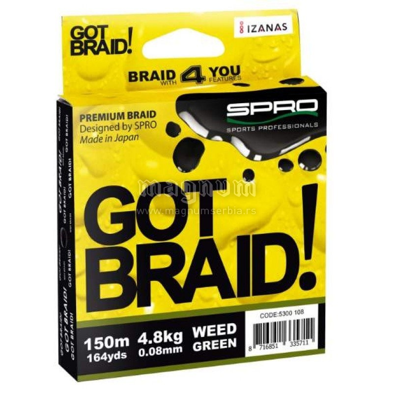 Kanap Got Braid Weed 150m 0.22 green