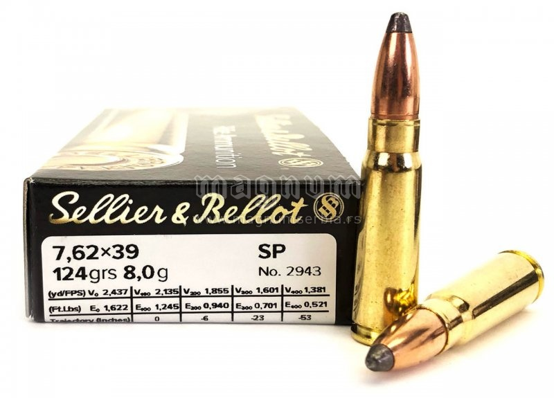 Metak Belot 7.62x39 SP 8g