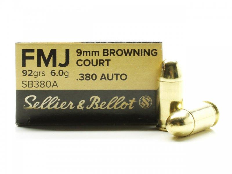 Metak Belot 9 Kratka (.380 auto) FMJ 6g
