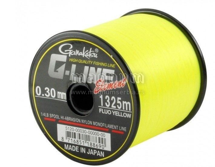 Najlon G-Line Ele F-Yellow 1325m 0.30/6.5kg 5120-030 Gamakatsu