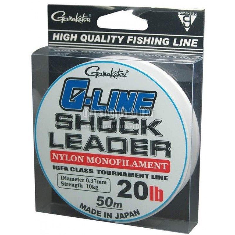 Najlon G-Line Shock Leader 50m 0.37mm 5133-020 Gamakatsu