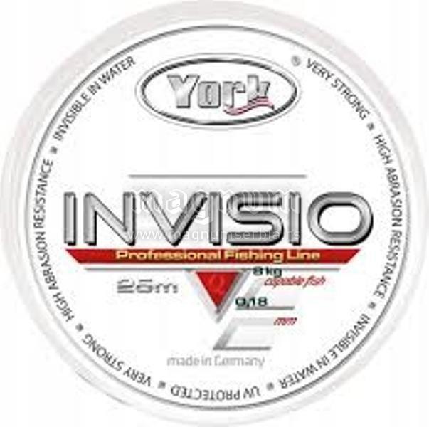 Najlon Invisio 25m 010/2.0kg York