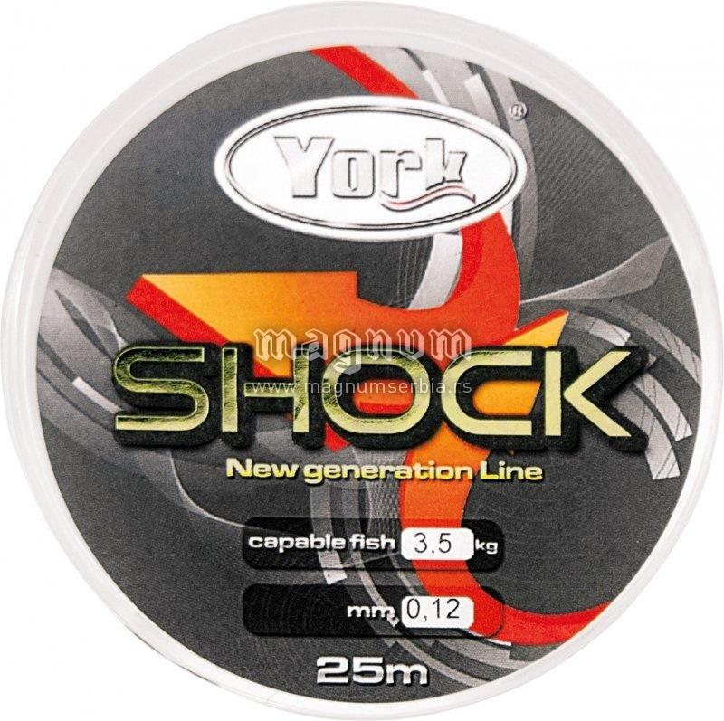 Najlon Mega Shock 25m 014/5kg York