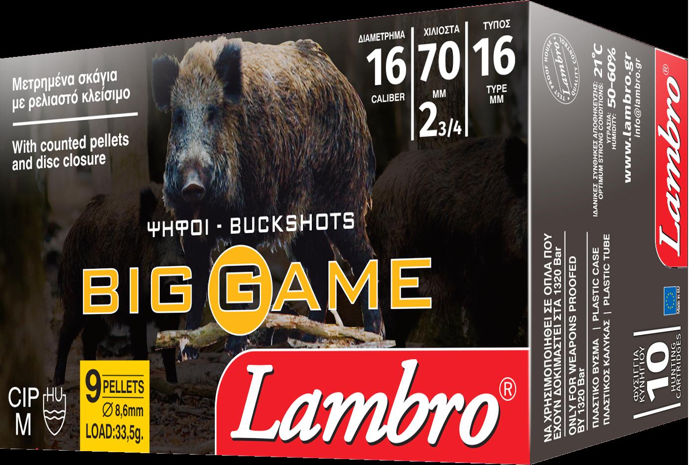 Pat.Lambro 16/70 Big Game 7,6mm 12P