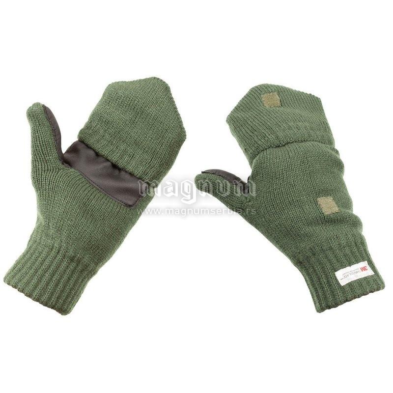 Rukavice MFH 15457B zelene pletene